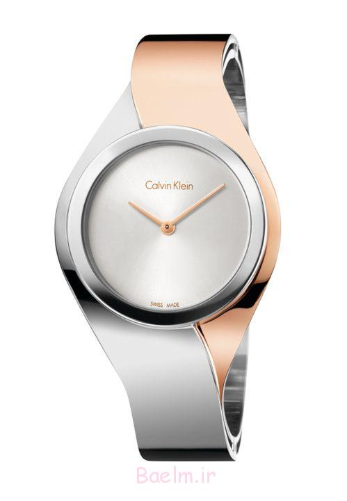 pink silver beautiful watch design