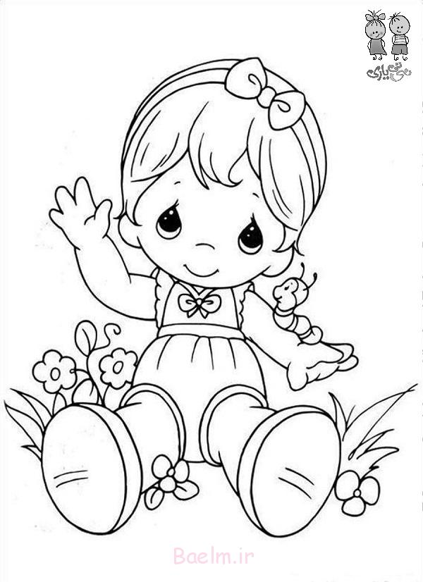 cute little girl coloring pages - photo#31