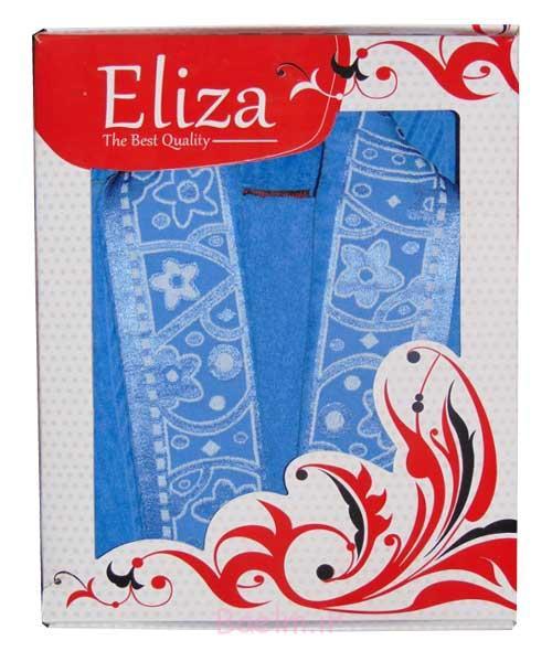 رنگ آبی نفتی حوله پالتویی مردانه و زنانه مدل گلریز مارک الیزا
