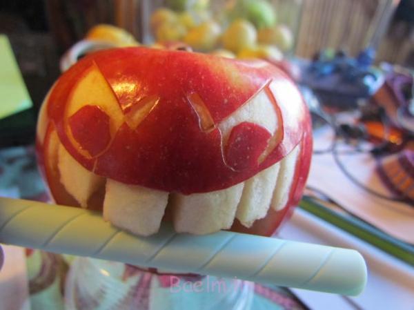 Obst dekorativ schnitzen apfel kunst fressen candy