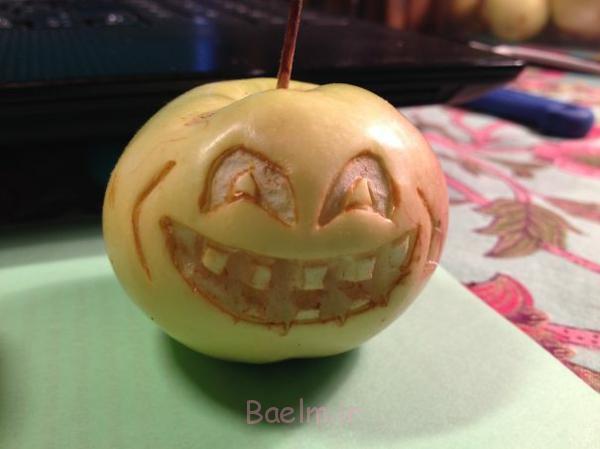 dekorativ schnitzen apfel kunst lachen