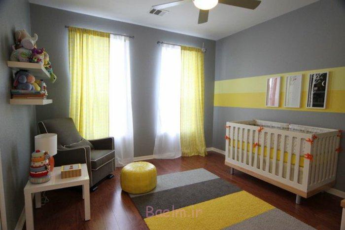 babyzimmer einrichten tipps bodenbelag gelber teppich