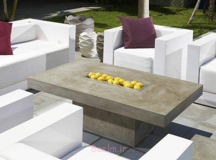 میز قهوه-ساده طراحی آفریقایی لیمو بتن