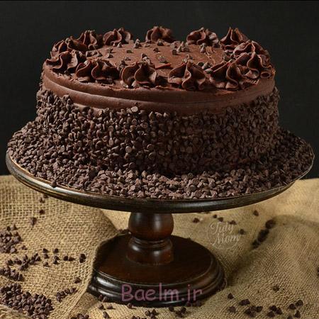 تزیین کیک شکلاتی ساده,تزئین کیک شکلاتی,عکس تزیین کیک شکلاتی