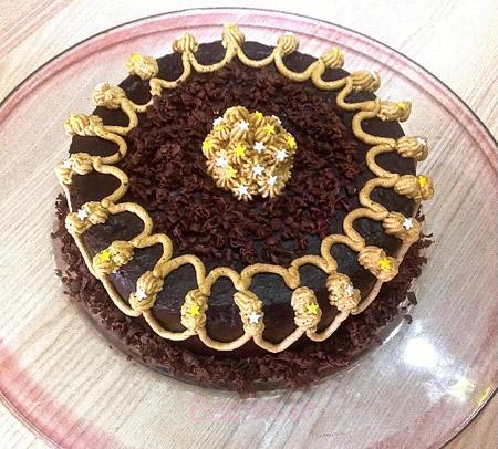 مدل تزیین کیک شکلاتی,طرز تزیین کیک شکلاتی,عکس تزیین کیک شکلاتی