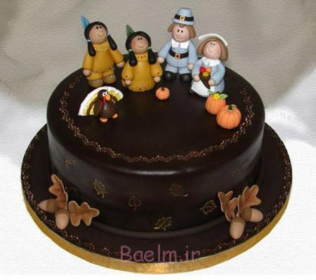 تزیین کیک شکلاتی,عکس تزیین کیک شکلاتی,تزیین کیک شکلاتی ساده