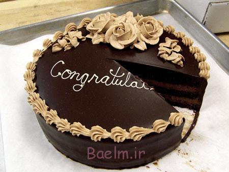 تزئین کیک شکلاتی,تزیین کیک تولد,عکس تزیین کیک شکلاتی