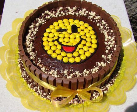 عکس تزیین کیک شکلاتی,تزیین کیک شکلاتی ساده,تزیین کیک تولد