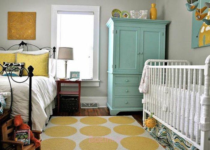 einrichtungstipps bodenbelag gelber teppich verlegen babyzimmer