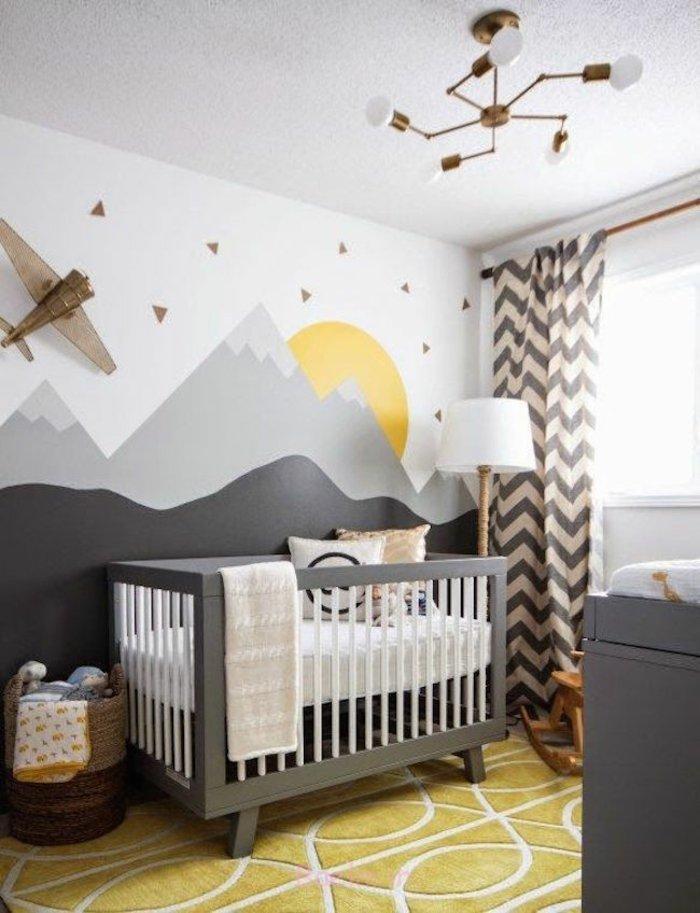 einrichtungstipps bodenbelag gelber teppich verlegen wandgestaltung babyzimmer