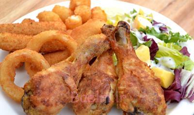 پخت مرغ سوخاری بدون روغن,طرز درست کردن مرغ سوخاری بدون روغن
