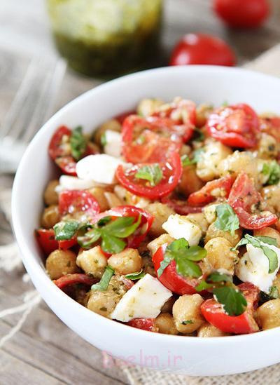 سالاد نخود و گوجه فرنگی,درست کردن سالاد نخود و گوجه