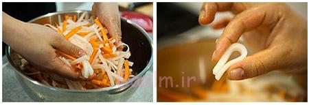 طرز درست کردن ترشی هویج و ترب سفید,تهیه ترشی هویج و ترب سفید
