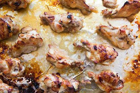 بال کبابی مرغ,بال کبابی مرغ با سس عسل و زنجبیل