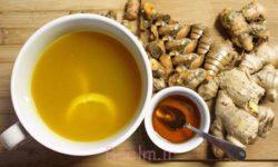 آموزش انواع معجون | طرز تهیه نوشیدنی زنجبیل و عسل و زردچوبه برای ترک سیگار