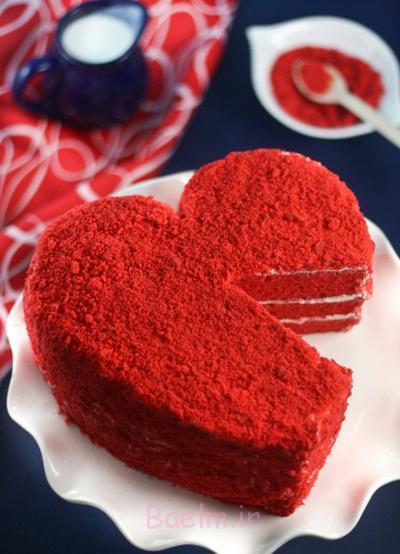 کیک مخملی قرمز مخصوص ولنتاین,مواد لازم برای کیک مخملی قرمز