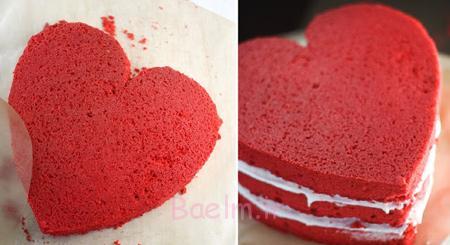 مواد لازم برای کیک مخملی قرمز, نحوه درست کردن کیک مخملی قرمز روز عشق