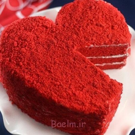 درست کردن کیک مخملی قرمز,کیک مخملی قرمز مخصوص روز عشق