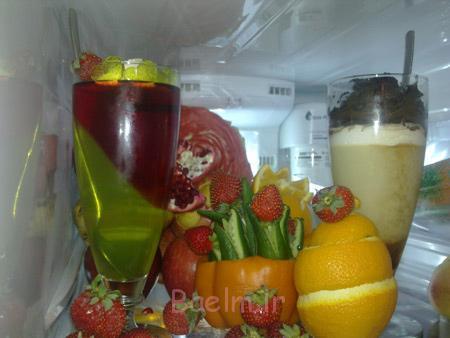 جدیدترین تزیینات یخچال عروس,تزیین ترشیجات یخچال عروس