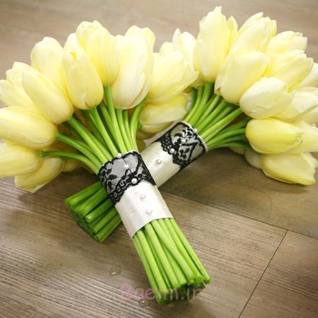 جدیدترین دسته گل عروس,دسته گل رنگی عروس
