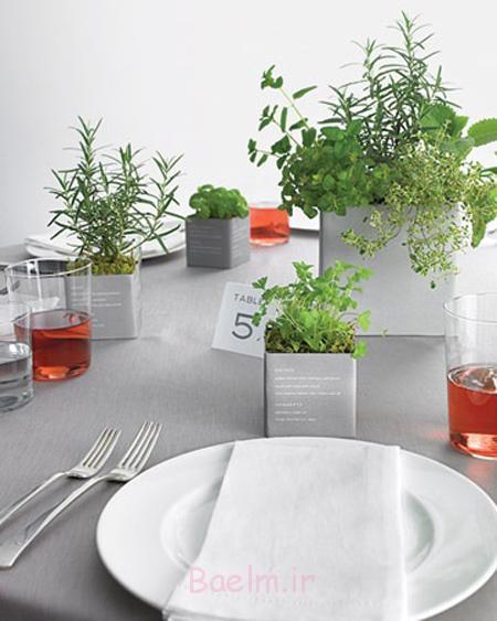 مدل های چیدمان میز شام,روش های چیدمان میز شام