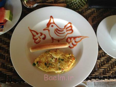 تزیین تخم مرغ آبپز,تزیین صبحانه