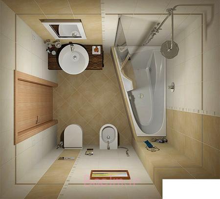 مدل های  طراحی مدرن حمام و سرویس بهداشتی های کوچک در سال 2016