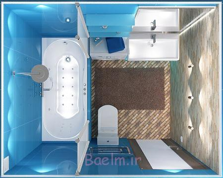 عکس چیدمان و دکوراسیون حمام و سرویس بهداشتی های کوچک