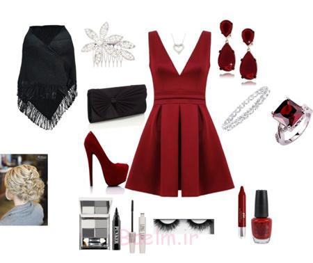 مدل ست های روز روز عشق, ست لباس قرمز روز روز عشق