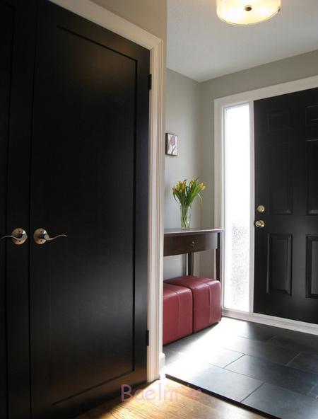 شیک ترین مدل درب های مشکی,ویژگی کارکردن درب های سیاه در خانه