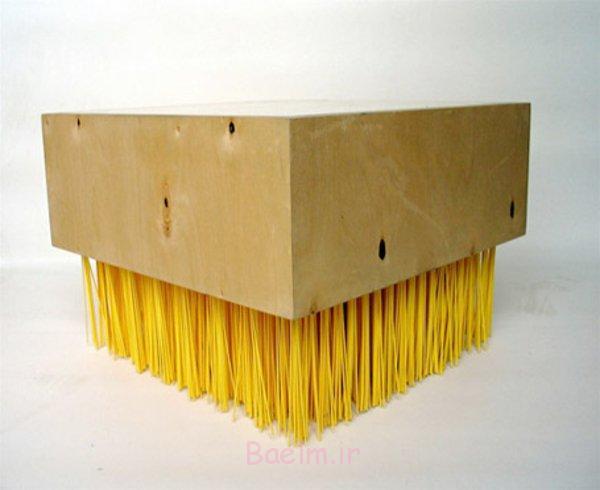 moderne gelb tische bürste