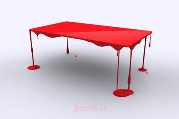 moderne designer tische rot kunst