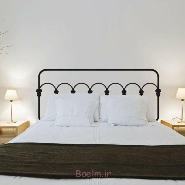 schlafzimmer gestalten metallbett kopfteil schmiedeeisen puristisch einrichten