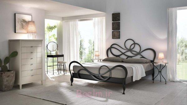 schlafzimmer gestalten metallbett schmiedeeisen moderne inneneinrichtung