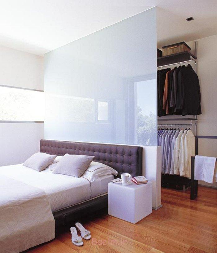 schlafzimmergestaltung leder kopfteil bettgestell gepolstert ankleide