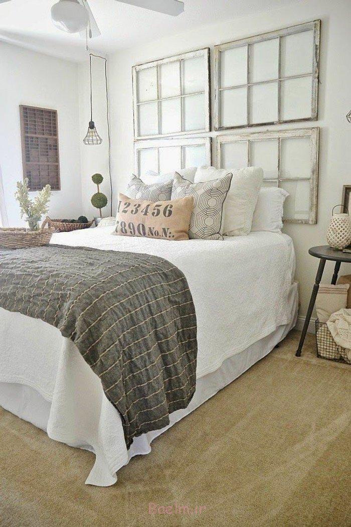 schlafzimmergestaltung shabby chic stil wandgestaltung alte fensterrahmen