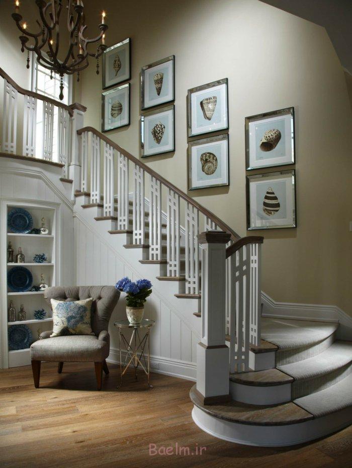 treppenteppich elegant treppenhaus gestalten holzboden flur ideen