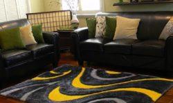 عکسهای شیک   جدیدترین مدل های فرش اتاق به رنگ زرد قناری