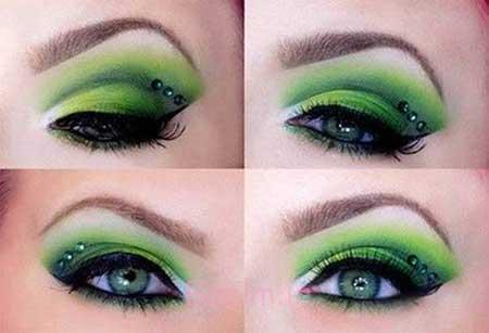 آرایش چشم به رنگ سبز آرایش چشم, آرایش چشم عروس, آرایش چشم درشت, آرایش چشم ریز, آرایش چشم مشکی, آرایش چشم ساده, آرایش چشم دخترانه, آرایش چشم پف دار,