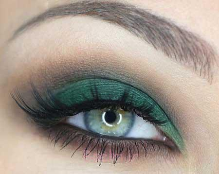 آرایش چشم سبز