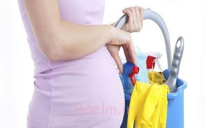 خانه تکانی,خانه تکانی در سه ماهه اول بارداری