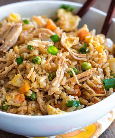 درست کردن مرغ سرخ شده با برنج,مواد لازم برای مرغ سرخ شده با برنج