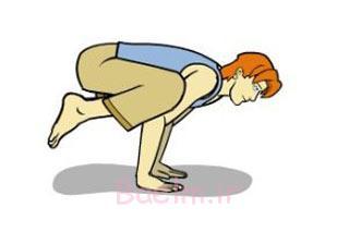 حرکت کلاغ یوگا, آموزش حرکت کلاغ یوگا, حرکت کلاغ یوگا یا باکاسانا