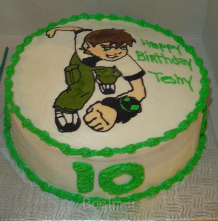 کیک تولد پسرانه بن تن, مدل کیک تولد بن تن