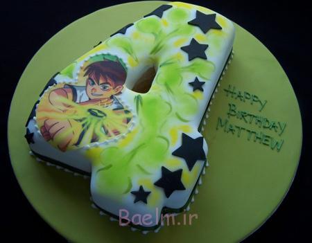 کیک تولد با تم BEN10,کیک تولد بن تن