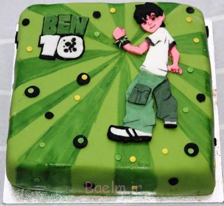 کیک با تم بن تن, کیک تولد پسرانه بن تن
