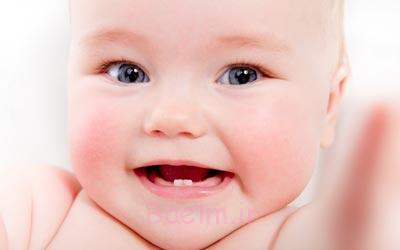 کاهش درد دندان درآوردن نوزاد,سن دندان درآوردن نوزاد