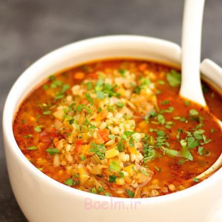 سوپ جو با گوشت,روش های پخت سوپ جو,سوپ جو خوشمزه
