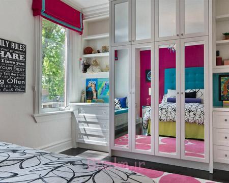 کمد دیواری اتاق خواب,طرح کمد دیواری اتاق خواب,انواع کمد دیواری اتاق خواب