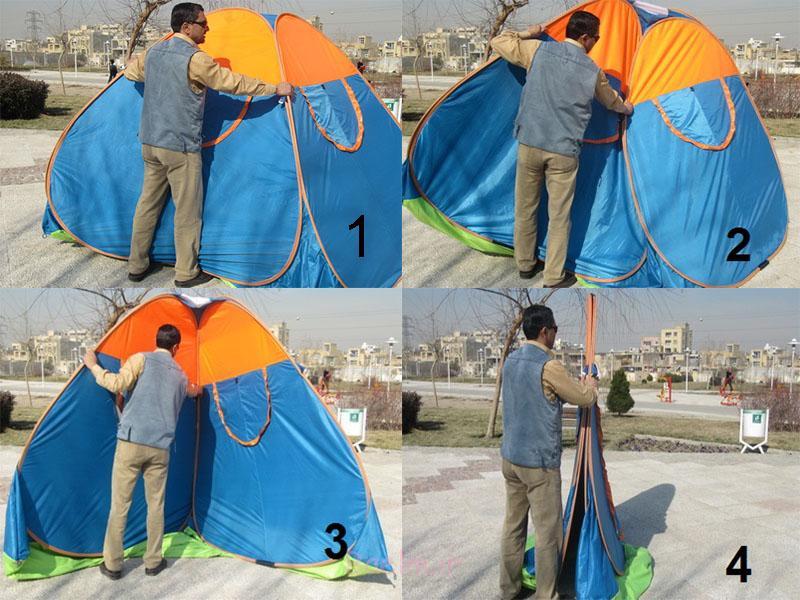 بستن چادر مسافرتی